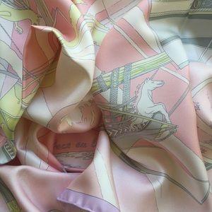 HERMES Face au Large Silk Scarf RARE